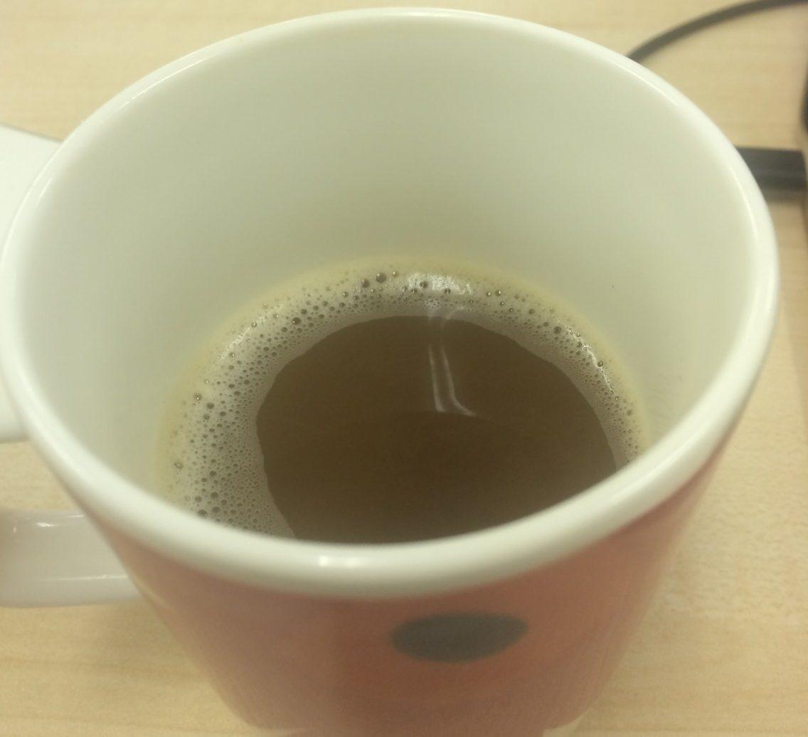 カフェラテならぬ緑茶?