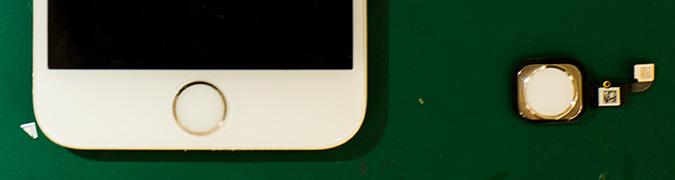 iPhoneのホームボタンと画面(ホームボタン付属)の画像